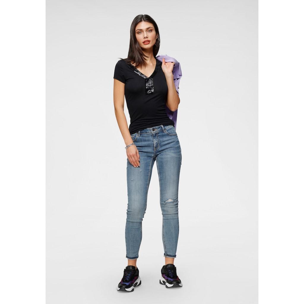 Melrose T-Shirt, mit Pailletten