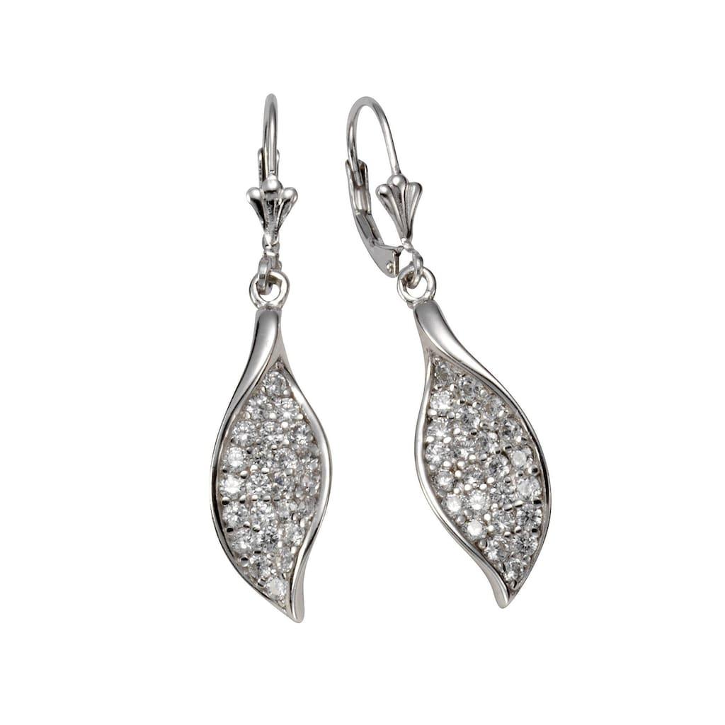 Vivance Paar Ohrhänger »925/- Silber rhodiniert 48x Zirkonia«, mit Geschenketui