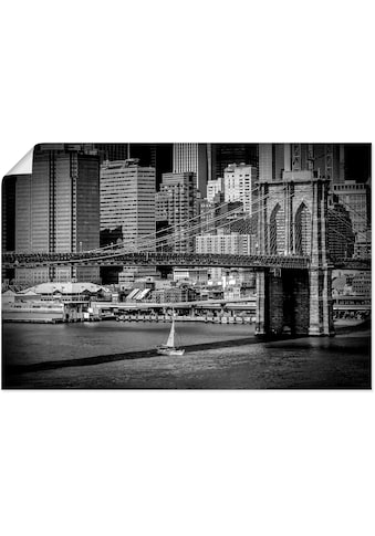 Artland Wandbild »New York City Brooklyn Bridge Manhattan«, Amerika, (1 St.), in... kaufen