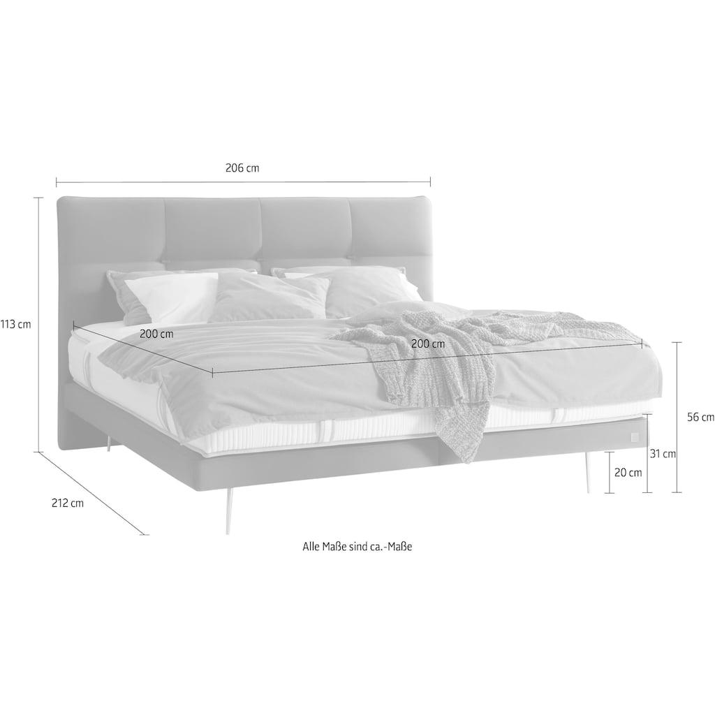 ADA premium Boxspringbett »Teana«, mit Metallfuß, in 3 Größen