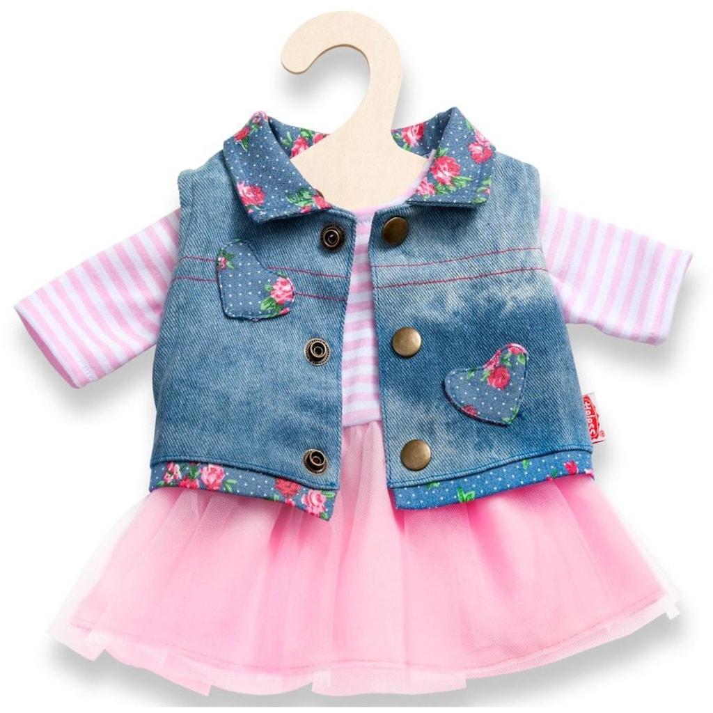 Heless Puppenkleidung »Tüllkleid mit Jeansweste«, (Set, 2 tlg.)