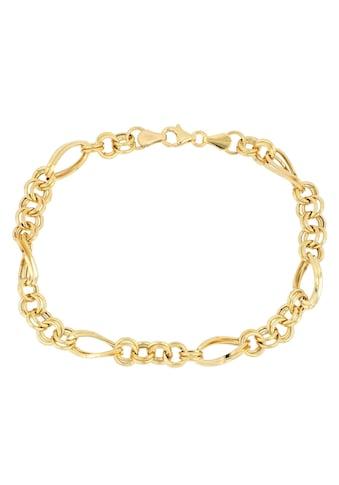 Firetti Goldarmband »in Figarokettengliederung, 5,8 mm, glänzend, Zwillingsglieder rund/oval 5:1, halbmassiv« kaufen