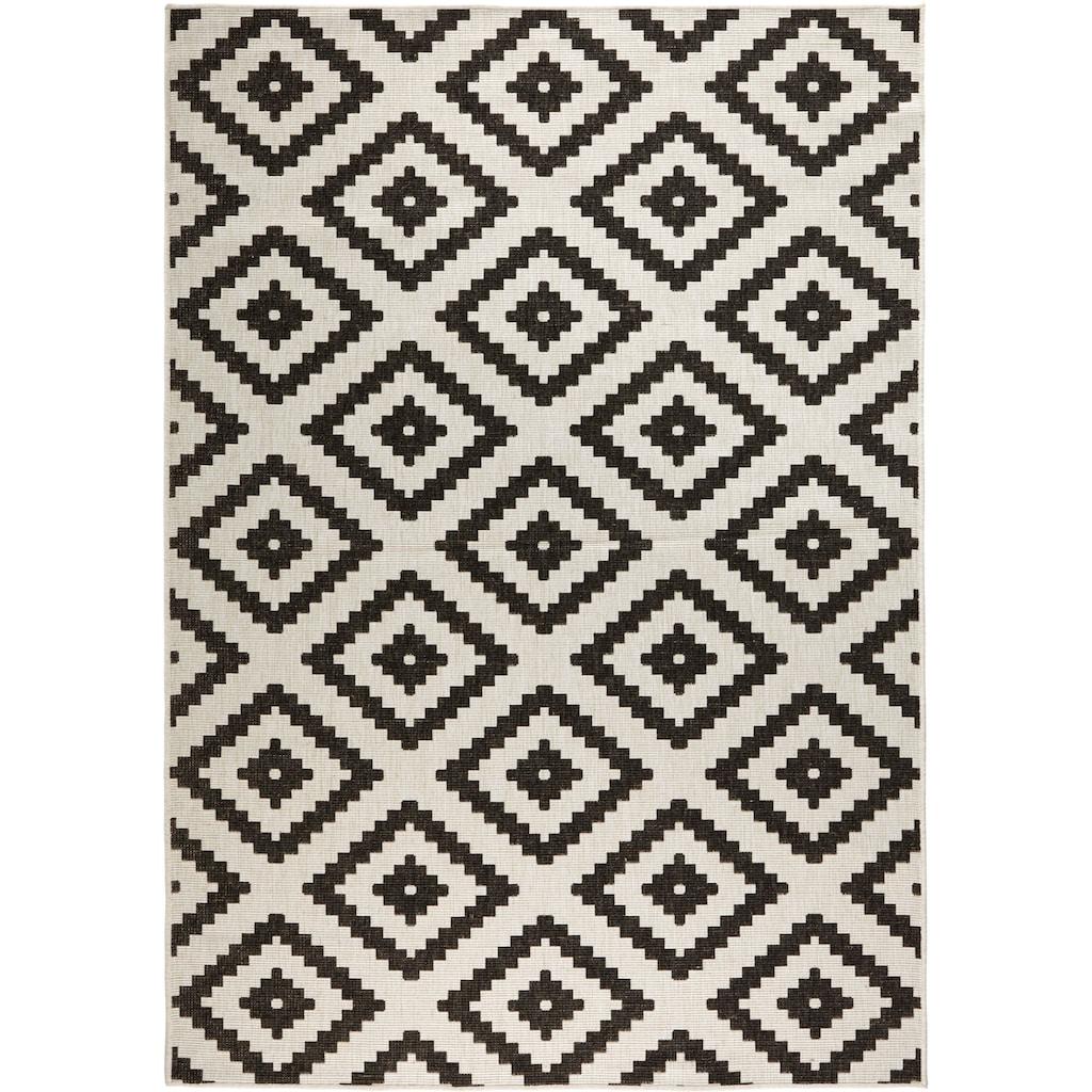 bougari Teppich »Malta«, rechteckig, 5 mm Höhe, In- und Outdoor geeignet, Wendeteppich, Wohnzimmer