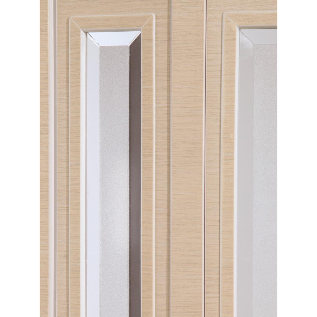 Falttür »Elvira«, Höhe nach Maß, Wildeiche natur mit Cristall Fenstern