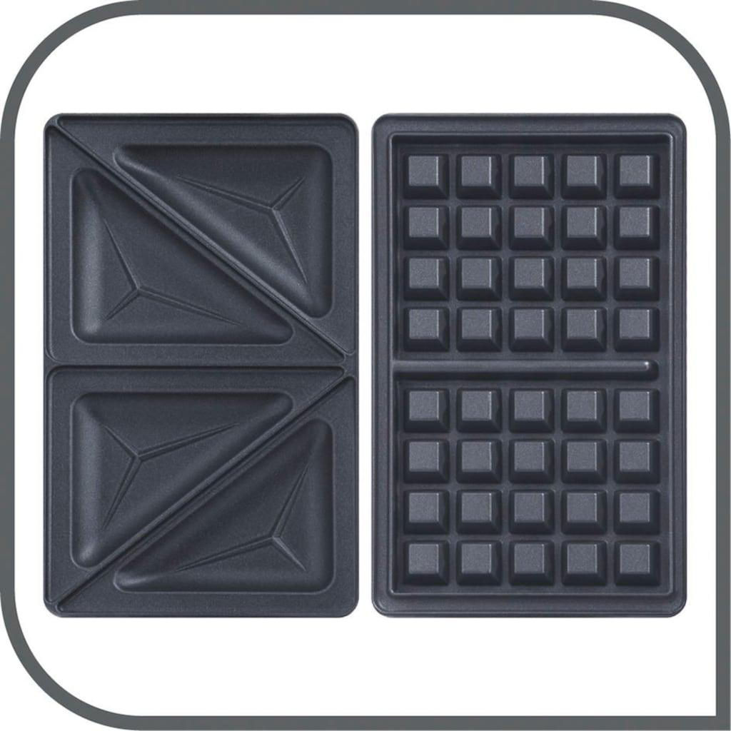 Tefal Sandwichmaker »SW341B und Waffeleisen Snack Time 2in1 Kombi Gerät«, 700 W, Waffeleisen und Sandwichtoaster in Einem; 2 herausnehmbare, antihaftbeschichtete Plattensets inklusive