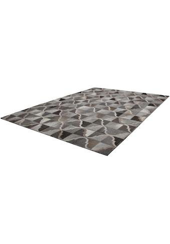 Kayoom Fellteppich »Lavish 310«, rechteckig, 8 mm Höhe, Patchwork-echtes Leder-Fell, Wohnzimmer kaufen