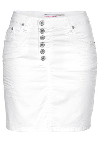 Please Jeans Minirock »G713«, stylischer Jeans-Mini-Rock mit Knopfleiste & leichter Crinkle-Optik kaufen