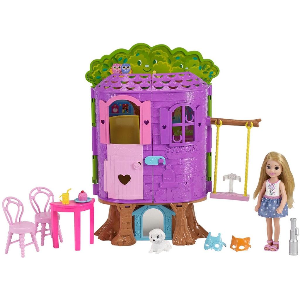 Barbie Puppenhaus »Club Chelsea Baumhaus Spielset und Puppe«, Spielset mit Puppe