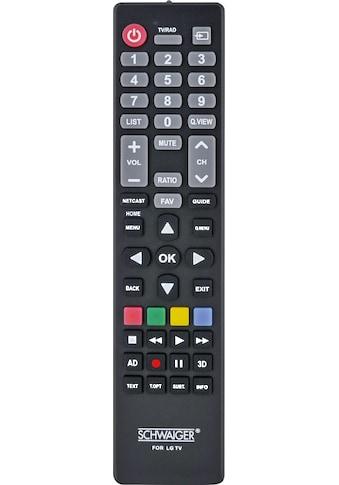 Schwaiger Ersatzfernbedienung für alle LG TV - Geräte (LCD, LED, PLASMA) »TV Fernbedienung« kaufen