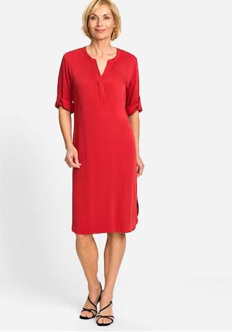 Olsen Sommerkleid, mit gekrempelten, kurzen Ärmeln kaufen