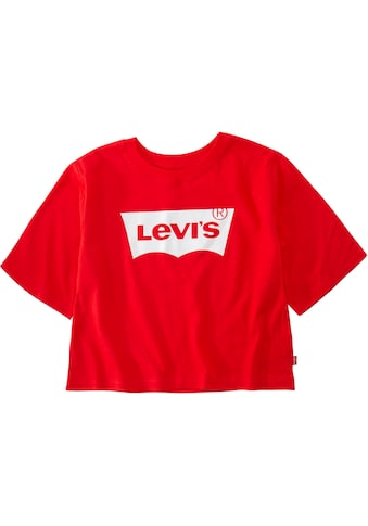 Levi's Kidswear T-Shirt »Levis Light Bright Cropped Top«, in kurzer, weiter Form kaufen