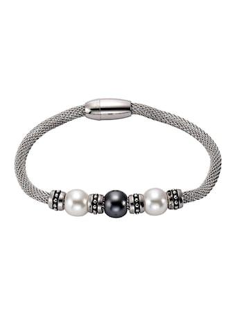 Vivance Edelstahlarmband »Edelstahl Perlen«, Armband kaufen