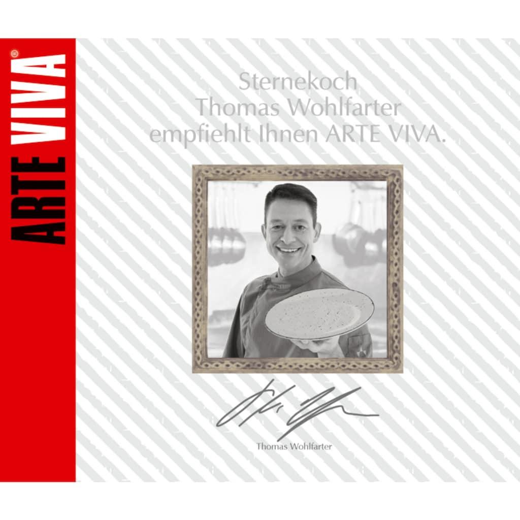 ARTE VIVA Tafelservice »Puro«, (Set, 12 tlg.), Farbset in Türkis und Beige, vom Sternekoch Thomas Wohlfarter empfohlen