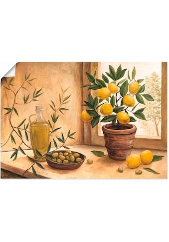 Artland Wandbild »Oliven und Zitronen«, Arrangements, (1 St.), in vielen Größen &... kaufen