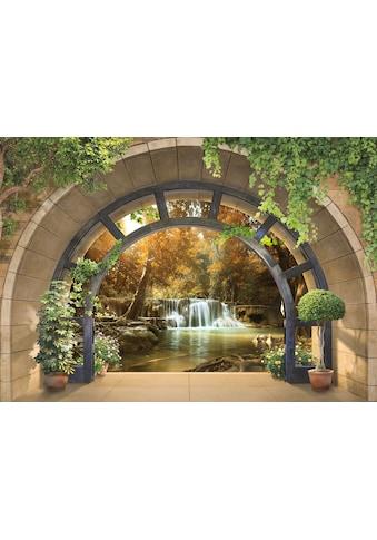 CONSALNET Fototapete »Terrassenblick«, Vlies, in verschiedenen Größen kaufen