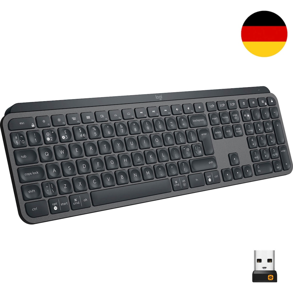 Logitech Tastatur »MX Keys Advanced«, (Antirutsch-Füße-Ziffernblock)