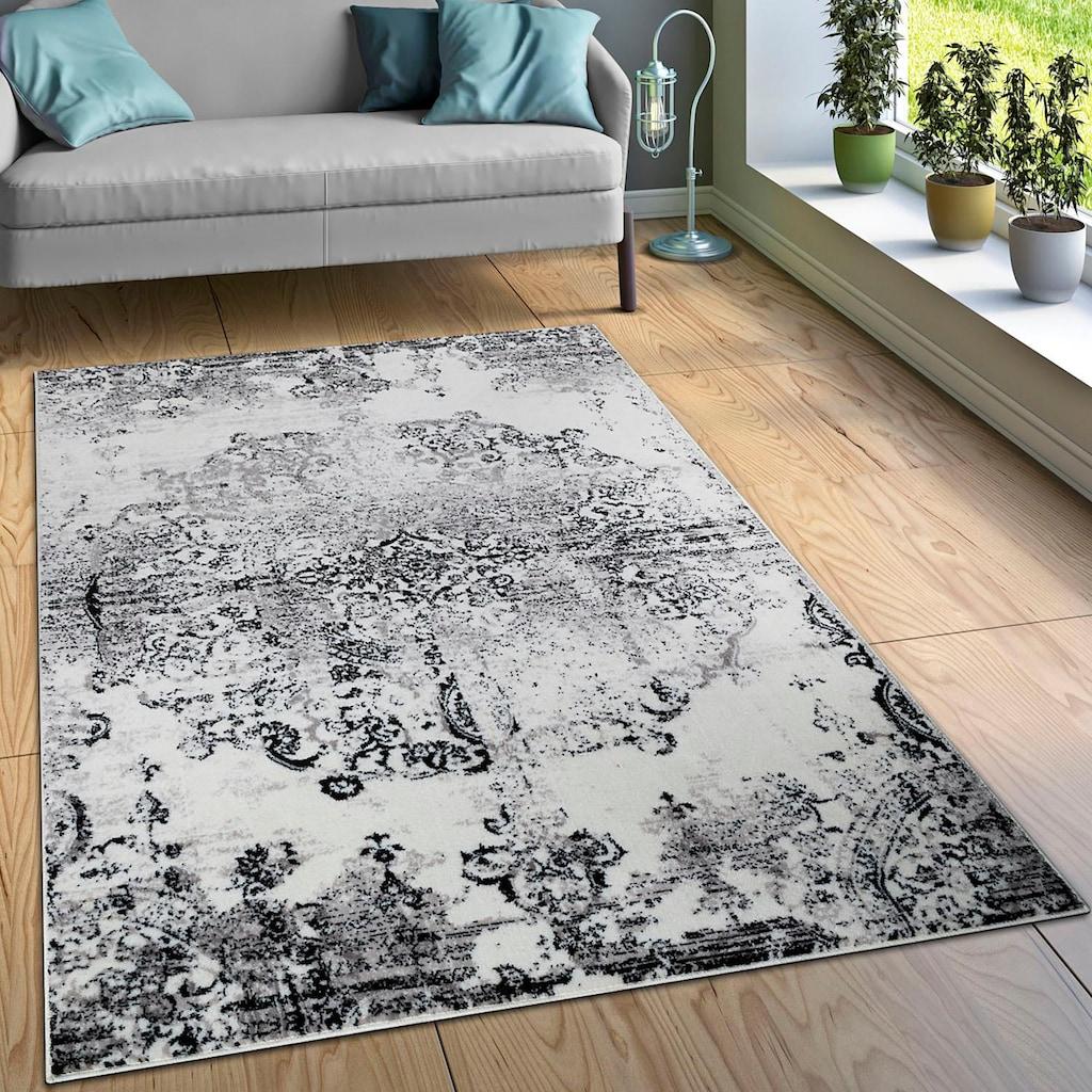 Paco Home Teppich »Tara 210«, rechteckig, 13 mm Höhe, Kurzflor, Vintage Design, Wohnzimmer