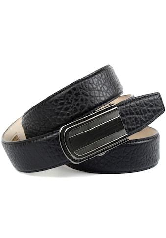 Anthoni Crown Ledergürtel, Schicker Herrengürtel mit eleganter Schließe und markanter... kaufen