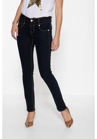 ATT Jeans Slim-fit-Jeans »Zoe«, mit Passenabtrennung in der Front und kontrastierenden... kaufen