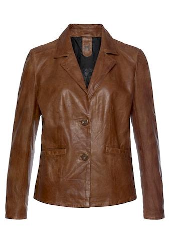Gipsy Lederjacke »Mya«, im modischem Blazer-Stil mit Reverskragen kaufen