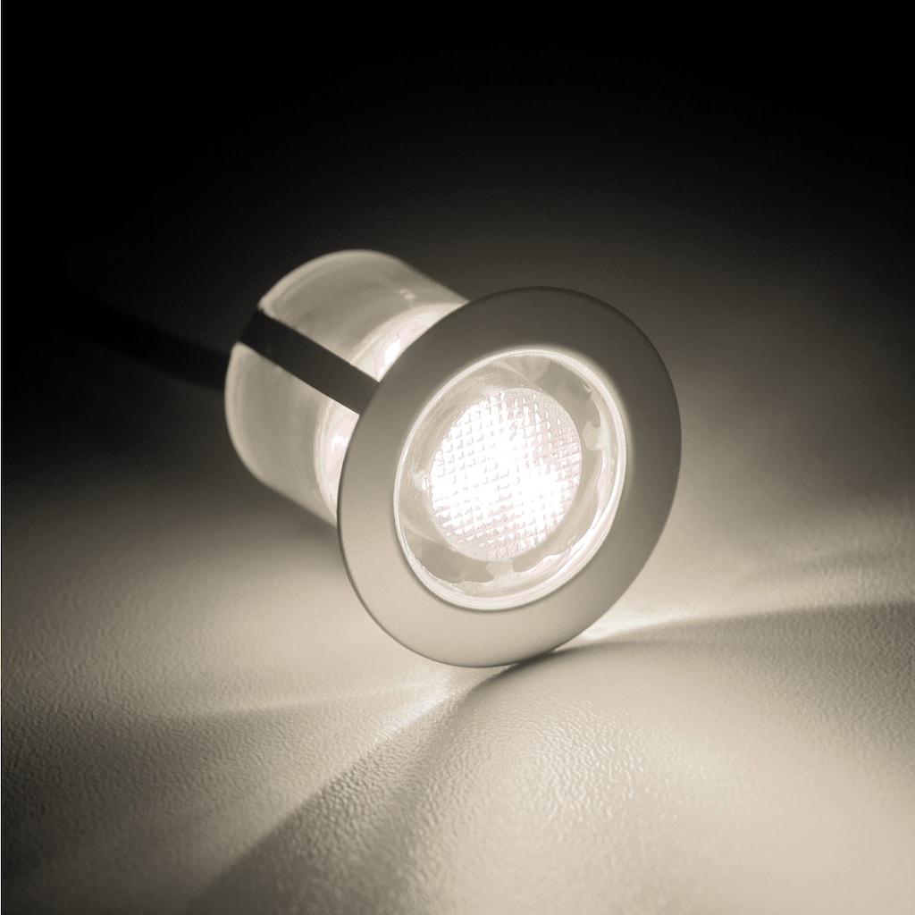 Brilliant Leuchten Cosa 30 LED Einbauleuchtenset 10 Stück edelstahl/warmweiß