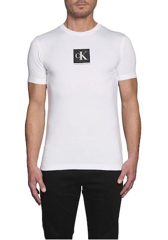 Calvin Klein Jeans T-Shirt »CENTER MONOGRAM BOX SLIM TEE« kaufen