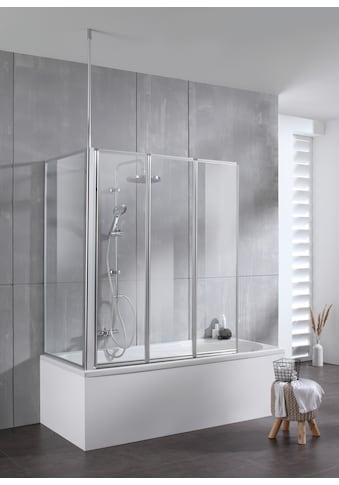 welltime Badewannenaufsatz »Summer 3-teilig + feste Seitewand«, Deckenhöhe bis 240cm geeignet kaufen