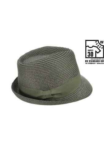 Seeberger Strohhut »Trilby mit Materialeinsatz 54372 - 0« kaufen