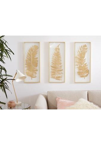 Leonique Wanddekoobjekt, Wanddeko, mit schönen Blatt-Motiven kaufen