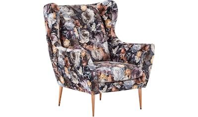 Leonique Ohrensessel »Louanne«, Edles Design in Samtbezug, Fernsehsessel mit... kaufen