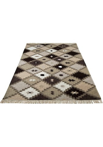 Home affaire Wollteppich »Kite«, rechteckig, 5 mm Höhe, reine Wolle, Wohnzimmer kaufen