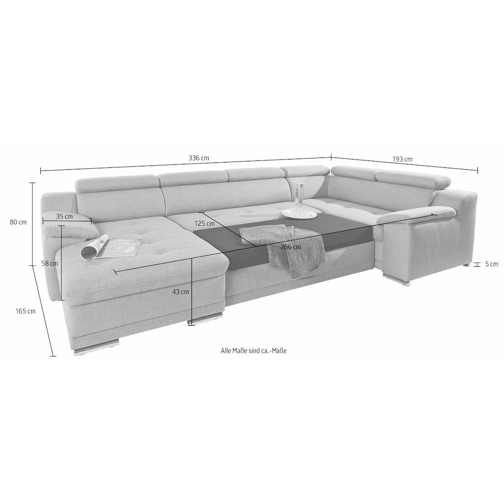 sit&more Wohnlandschaft, mit Kopfteilverstellung, wahlweise mit Bettfunktion