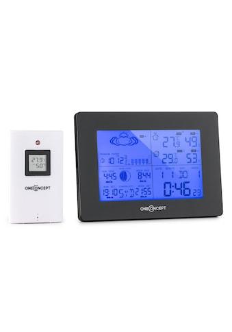 ONECONCEPT Funk-Wetterstation Batteriebetrieb Alarm inkl. Außensensor kaufen
