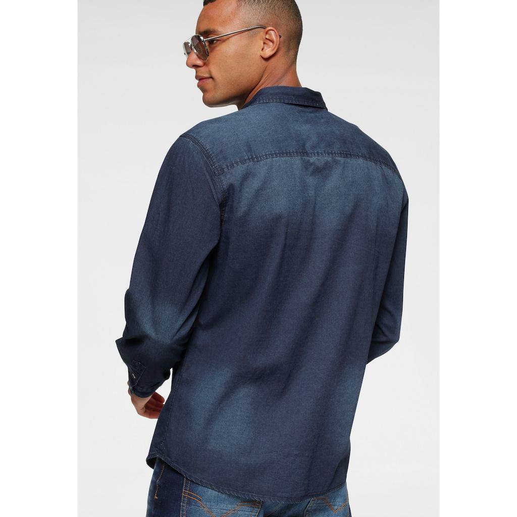 H.I.S Jeanshemd, mit zwei Taschen