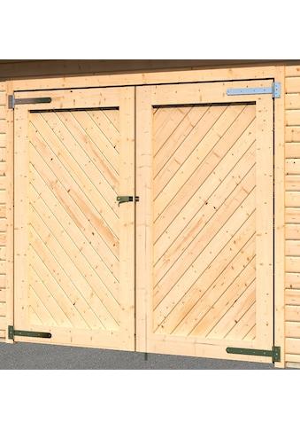 Karibu Garage »Stephan«, BxT: 338x489 cm, 193 cm Einfahrtshöhe, mit Dachschindeln kaufen