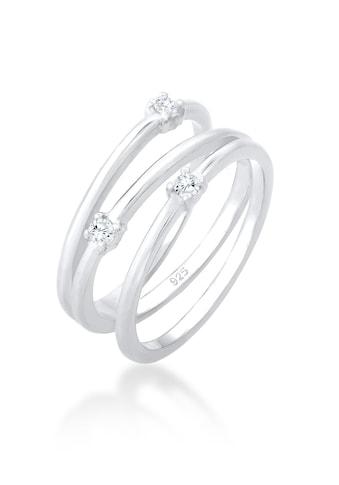 Elli Fingerring »Wickelring Zirkonia Filigran 925 Silber« kaufen