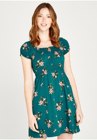Apricot Druckkleid »Floral Bunches Milkmaid Dress«, mit Smokdetails kaufen