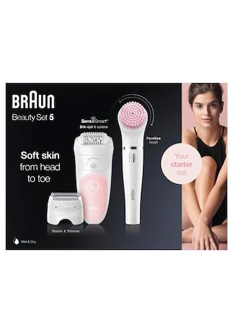 Braun Epilierer »Silk-épil Deluxe Beauty-Set 5-895 6-in-1«, 4 St. Aufsätze kaufen