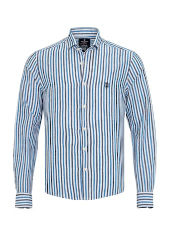 Jimmy Sanders Leinenhemd, Rendo gestreiftes Muster kaufen