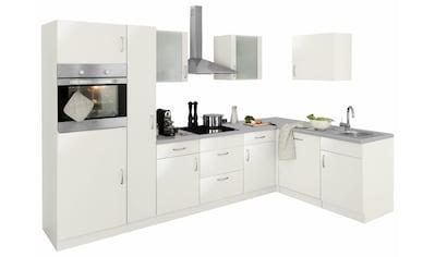 wiho Küchen Winkelküche »Brüssel«, mit E - Geräten, Stellbreite 310 x 170 cm kaufen