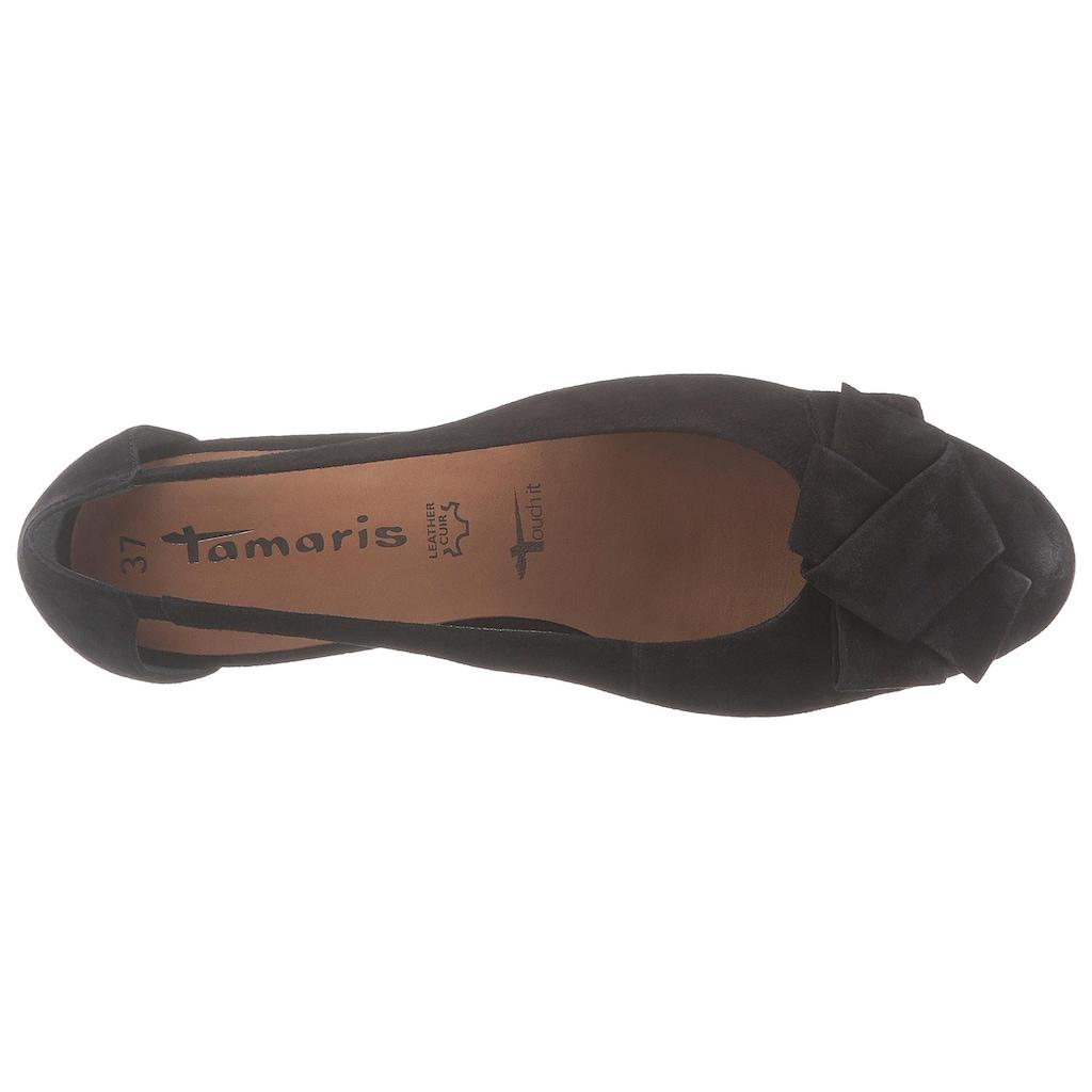 Tamaris Ballerina »Runa«, mit Zierschleife
