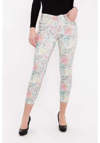 ATT Jeans 7/8-Hose »Leoni«, mit floralem Druck und verzierten Eingriffstaschen kaufen