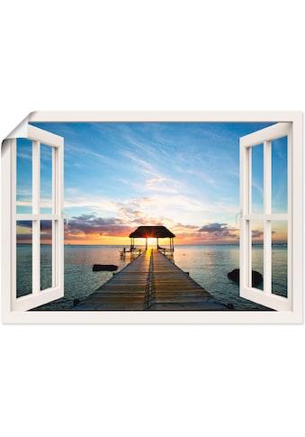 Artland Wandbild »Fensterblick Steg im Gegenlicht« kaufen