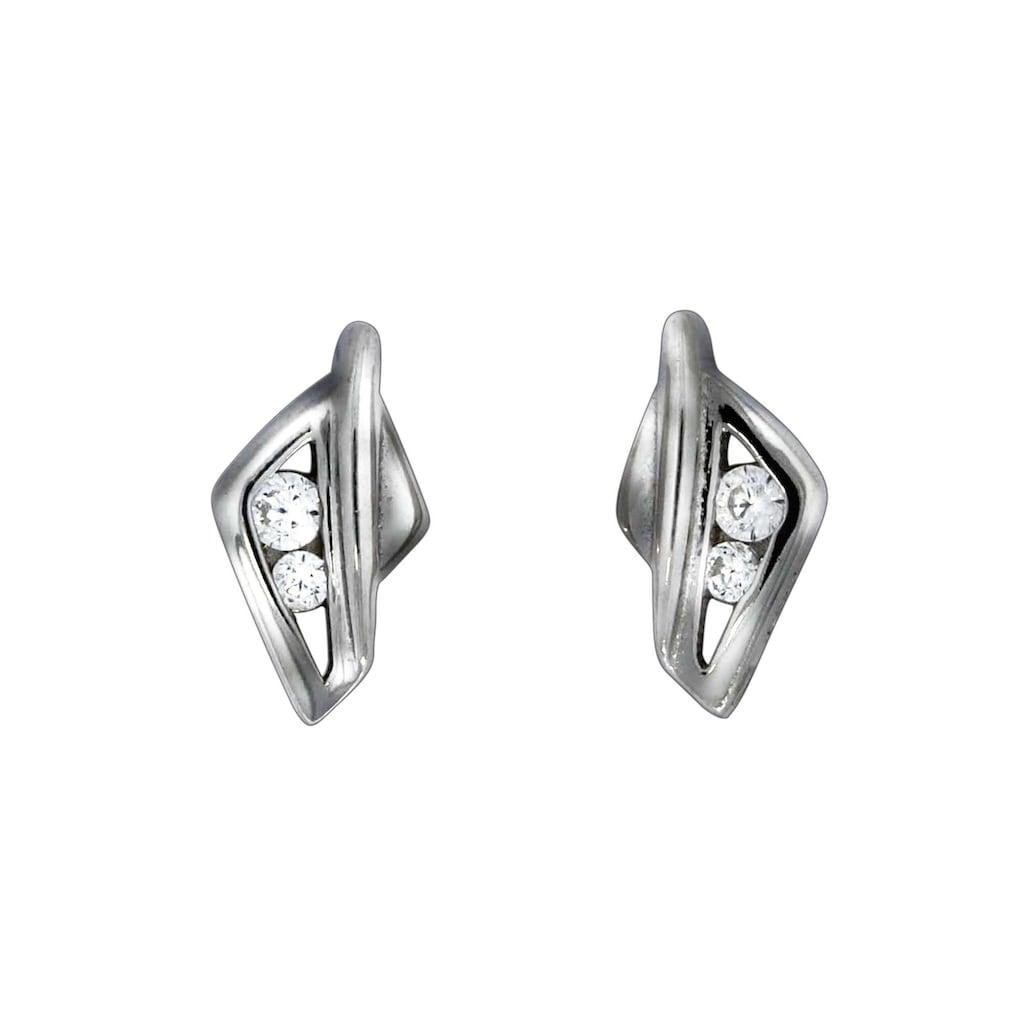 Vivance Paar Ohrstecker »925/- Sterling Silber Zirkonia«, rhodiniert