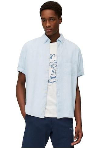 Marc O'Polo Kurzarmhemd, Leinenstruktur kaufen