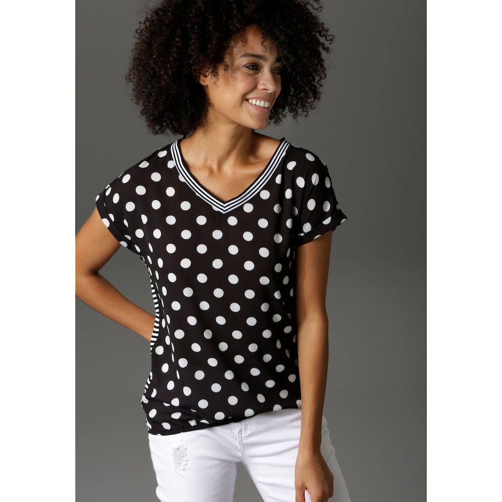 Aniston CASUAL T-Shirt, im Material- und Mustermix - NEUE KOLLEKTION