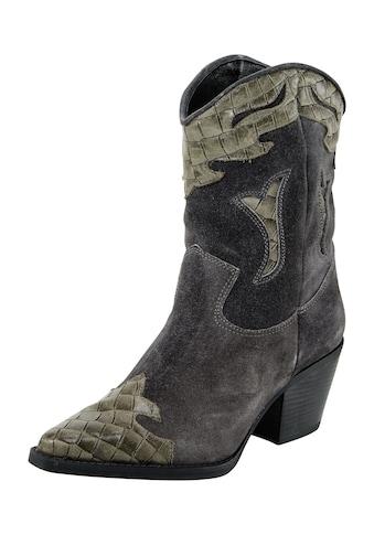 Stiefel im Western - Look mit Krokoprägung kaufen