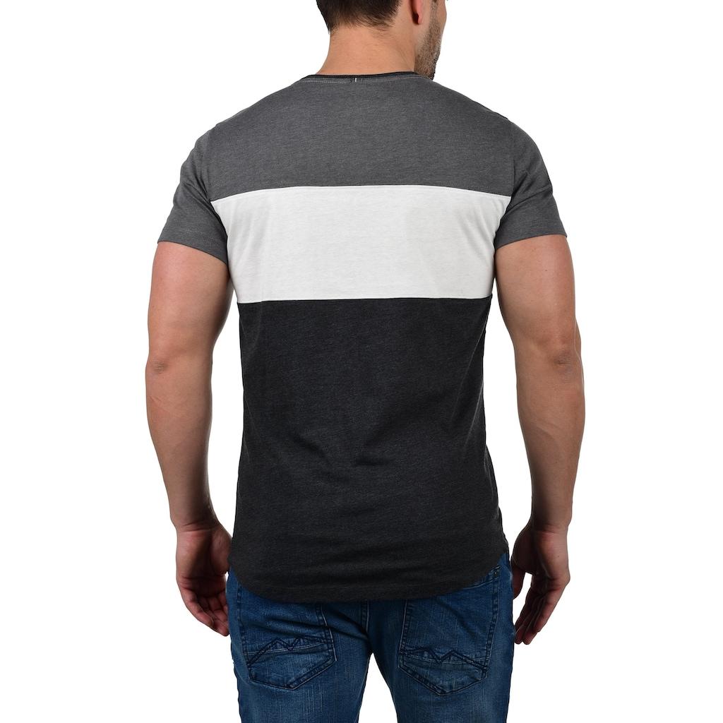 Blend Rundhalsshirt »Nero«, T-Shirt mit Streifen und Print