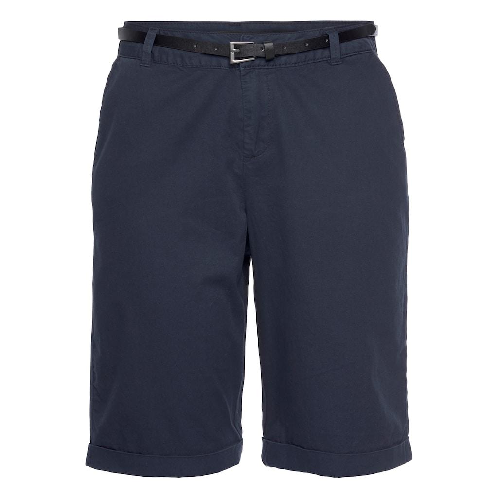 Vero Moda Shorts »VMFLASH BERMUDA BELT SHORTS«, (mit Gürtel in Lederoptik)