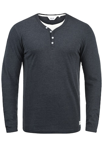 Solid Langarmshirt »Doriano«, Longsleeve im Double-Layer Look kaufen